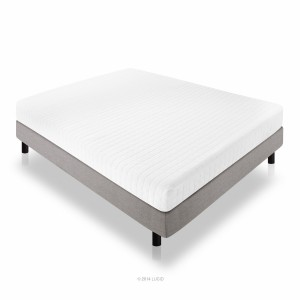 LUCID 8 Inch Memory Foam Mattress - Dual-Layered