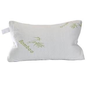 Memory Foam Pillow - Removable Hypoallergenic Bamboo Cover Case - - Great During Maternity Pregnancy or Yoga - Perfect Chiropractic Body Support Every Night -Great for Travel Too