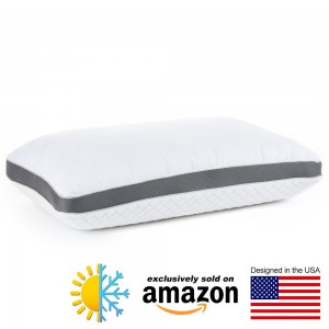 Perfect Cloud Diamond Rest Gel Pillow - Ventilated Air Comfort Memory Foam