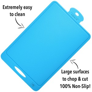 Vikalis Premium Silicone Cutting Board - Durable, Nonslip