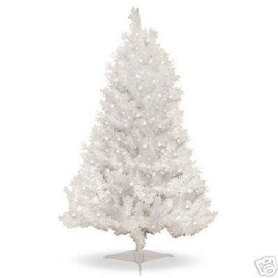 4 ft pre lit clear white indiana spruce artificial christmas tree