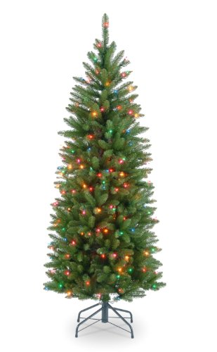 national tree 4 12 foot prelit artificial kingswood fir pencil tree - 2 Foot Christmas Tree
