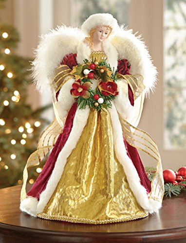 white christmas tree and all youre missing is the topper or you just need to have a new one check out this wonderful christmas angel tree topper - Christmas Angel Tree