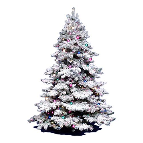 vickerman flocked alaskan unlit white on green christmas treevickerman 3ft flocked alaskan unlite white on green christmas tree