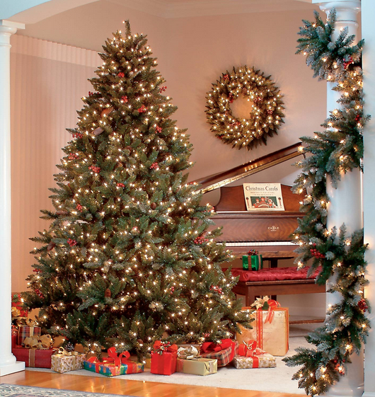 the best pre lit artificial christmas trees - Pre Lighted Christmas Trees