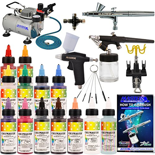 Cake Decorating Airbrush Kit With Compressor Colours And Cleaner : The Best Airbrush for Cake Decorating - A Very Cozy Home
