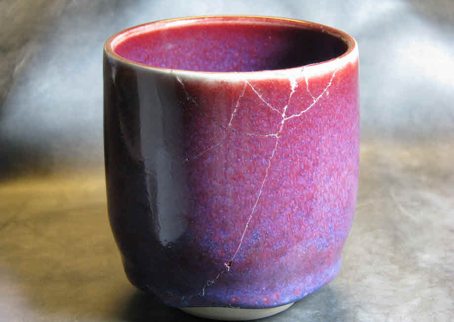 glued broken cup