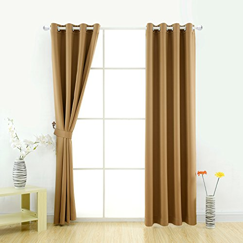 The Curtains Are Made Of 100 Polyester And They Have An Elegant Appearance As Back Them Is Same Fabric Front