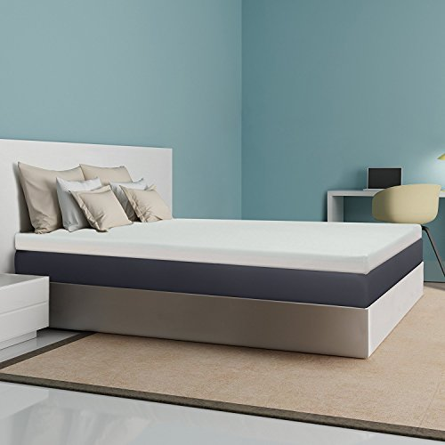 the 4inch thick mattress topper is made with good quality memory foam and presents the typical qualities of memory foam it presents a 25u201d layer of
