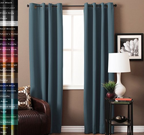 the curtains are made with 3 pass polyester blackout fabric so create a private room from the second you hanged them they keep outside noise away from your