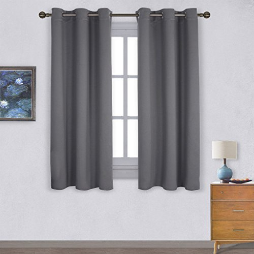 The Curtains Are Made With Polyester And You Actually Get A Set Of 2 Blackout  Curtain Panels. Each Of The Panels Come With 6 Grommets Top And They Glide  ...