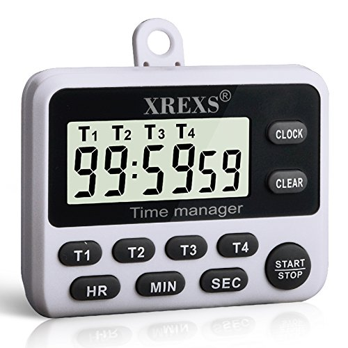 XREXS 4 Channels Digital Kitchen Timer Clock Which Is Offered By US Rexs  LLC Is One Of The Best Kitchen Timers Within The Market.