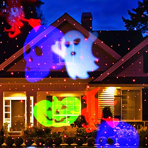 colorful and merry the christmas laser light newest version ucharge snowflake led spotlight landscape projector put a nice colorful light onto your home - Laser Projector Christmas Lights