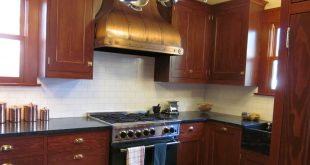 antique looking brass range hood