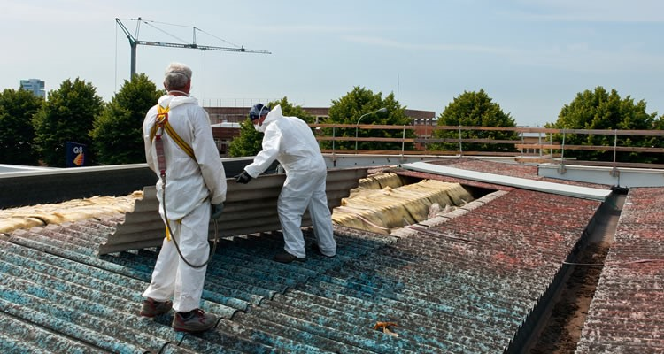 asbestos removal on the roof