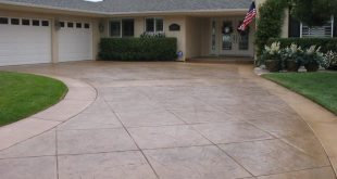 well made concrete driveway