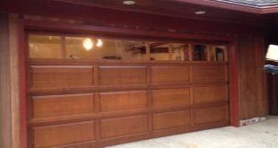 red wood textured garage door