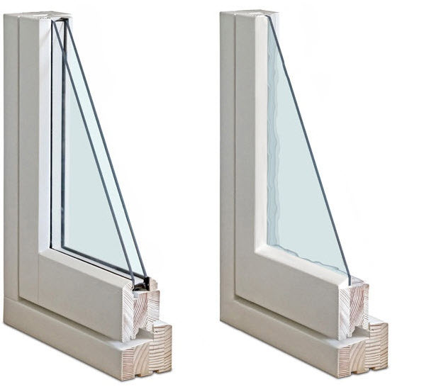 single vs double sided window panes