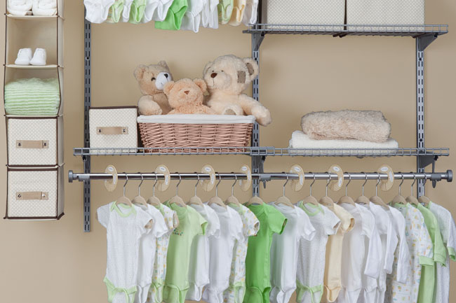 storage spaces for baby's room