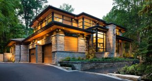 sustainable home made from wood and stone