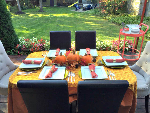 Outdoor Thanksgiving