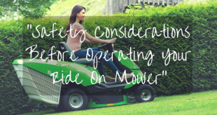 Safety Considerations Before Operating Your Ride On Mower
