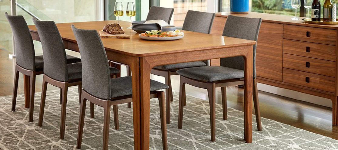 scandinavian style dining table