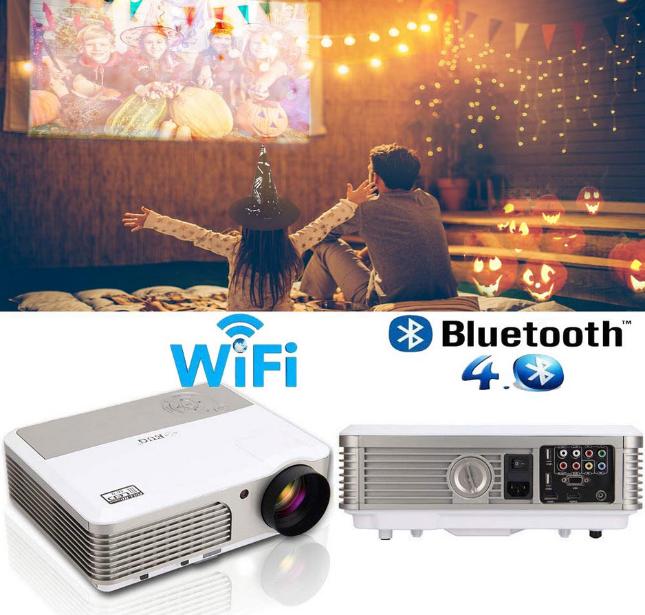EUG Wireless Home Cinema LED LCD Video Projector