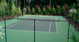 cozy home tennis court