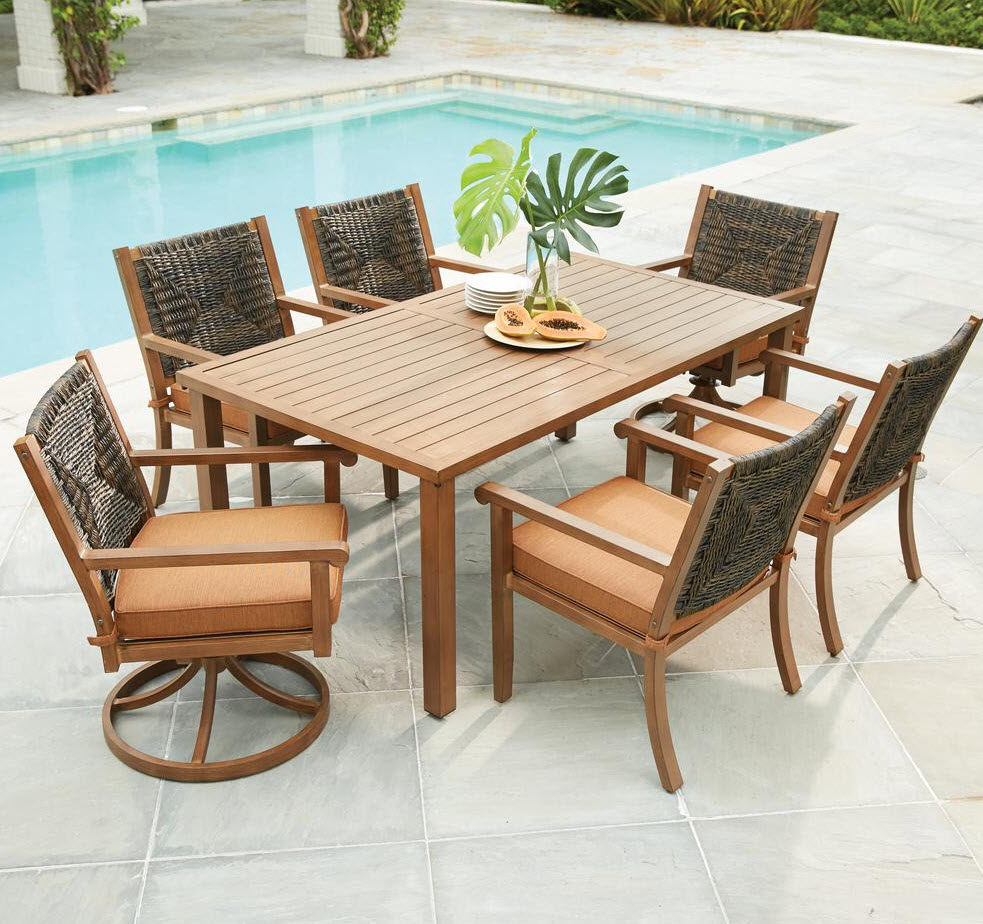 hardwood outdoor dining set