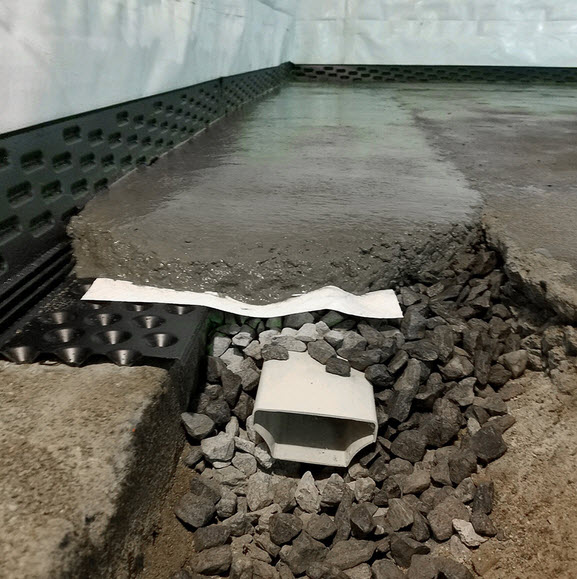 basement waterproofing and drainage system