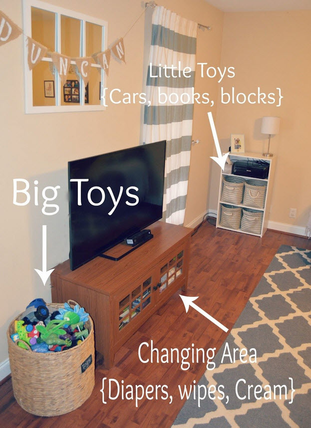 Example of child room decluttering
