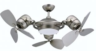 three fan ceiling fan and light