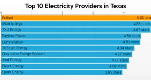 top 10 electricity providers in texas