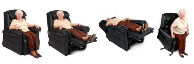 Infinite position lift chairs