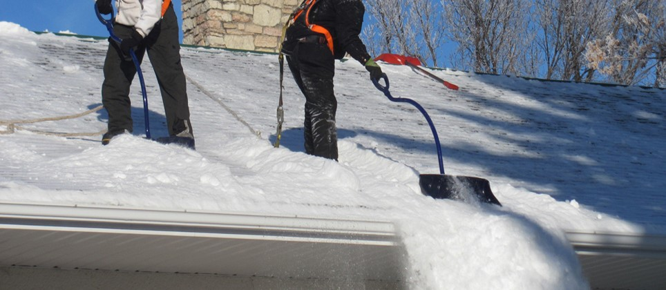 clearing ice on your roof