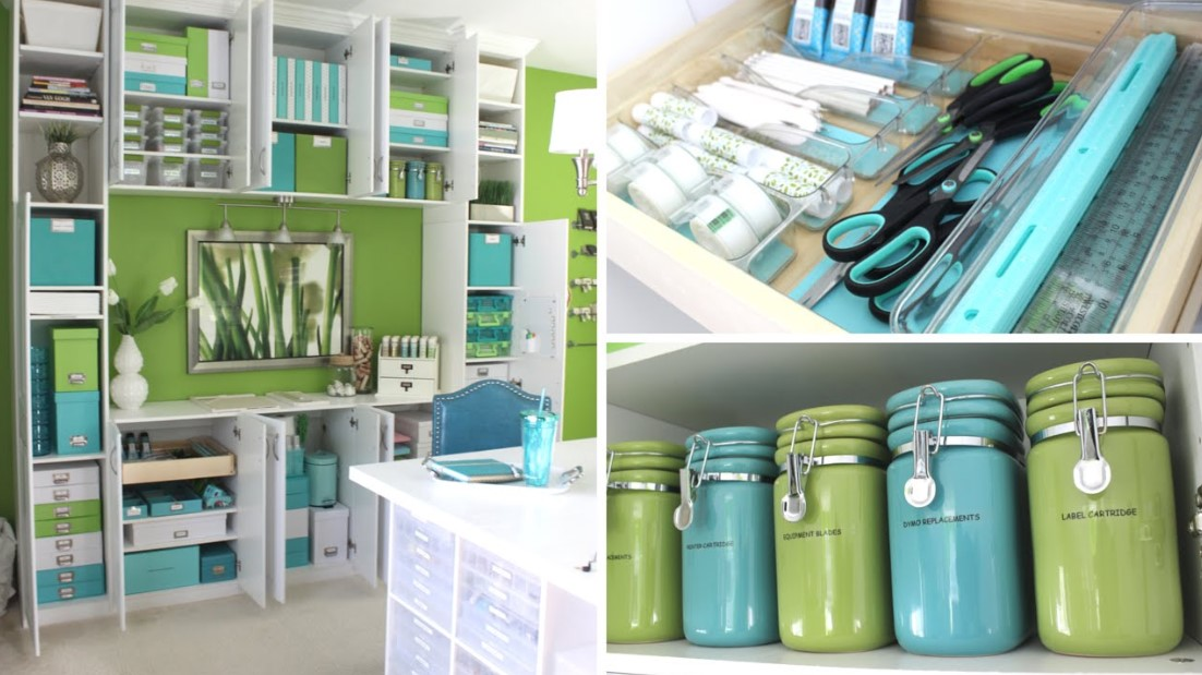 organization of drawers, shelves, and cabinets