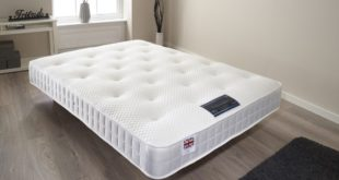 Bed mattress in a living room