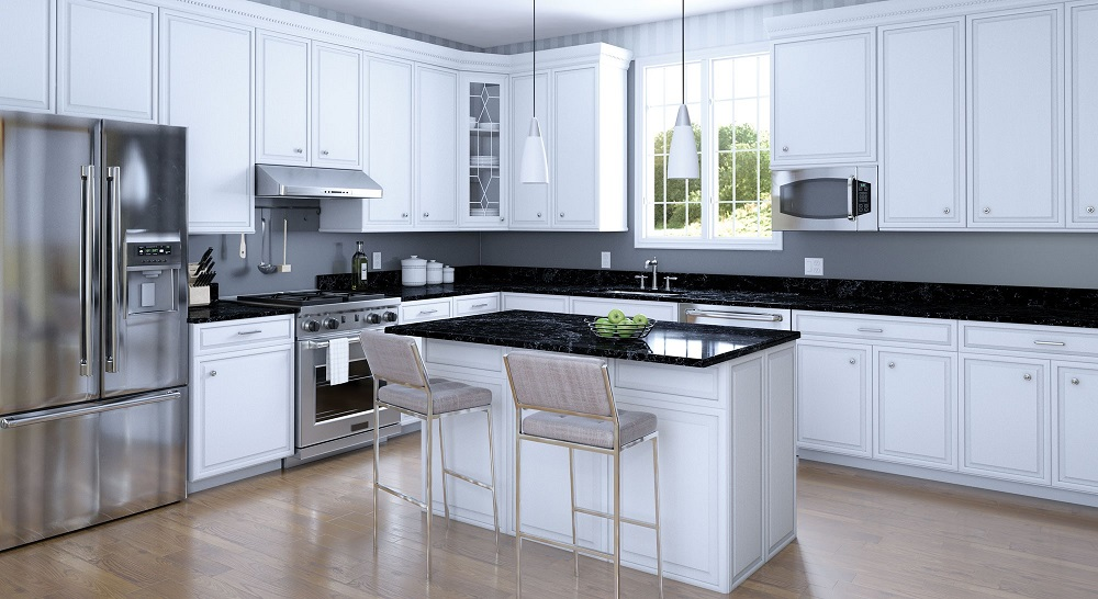Kitchen-with-black-countertop