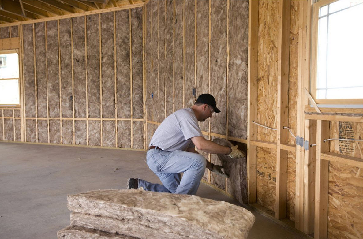insulation in the exterior walls