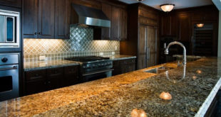 squeaky clean shiny granite countertop