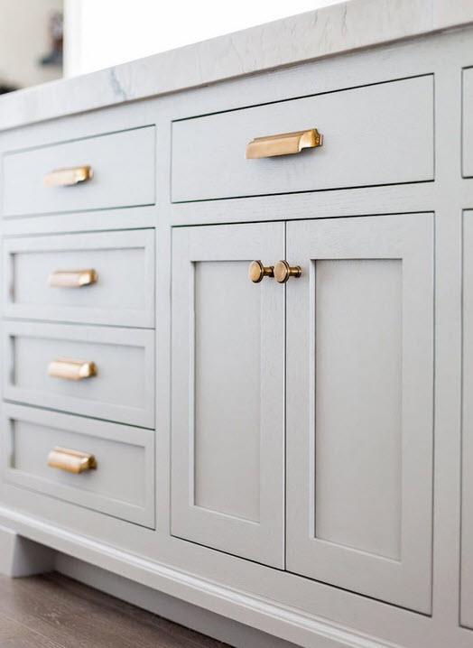 brushed brass cabinet handles