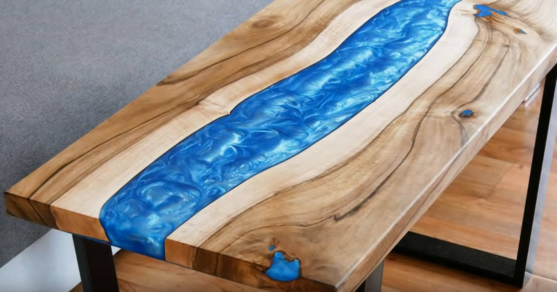 do it yourself epoxy river table