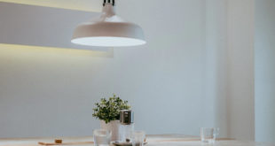 large canopy lamp over table