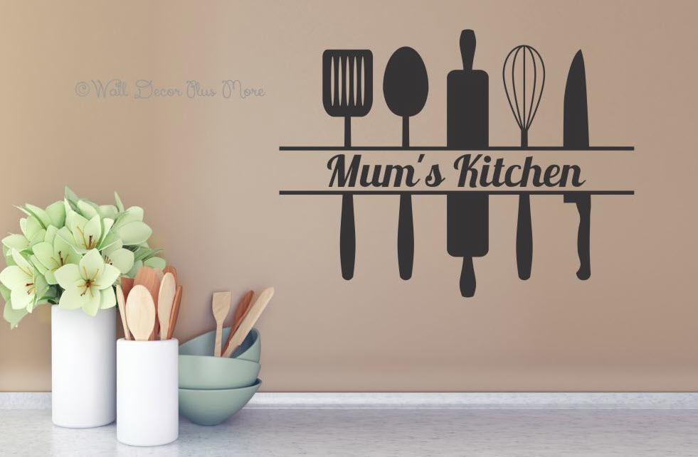 mums kitchen sticker on wall
