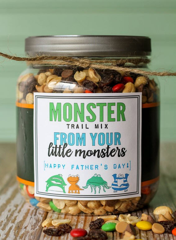 Fathers Day Homemade Trail Mix