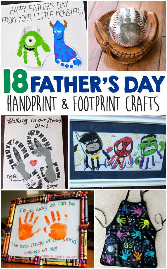 fathers day handprint and footprint gift idea
