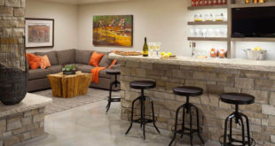 stone basement bar
