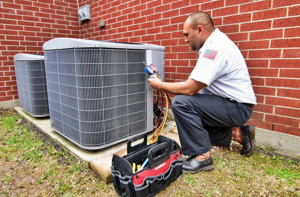 technician decides new air conditioned is needed
