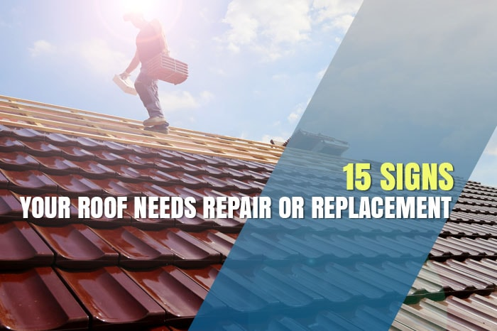 Signs your roof needs repair or replacement